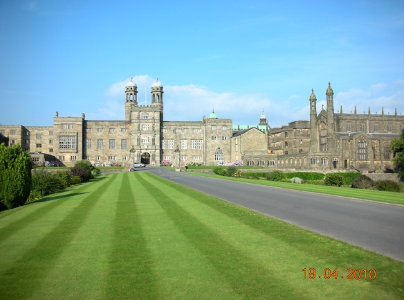 The entrance to what is now Stonyhurst College, built on land that once belonged to Ralph the Red.